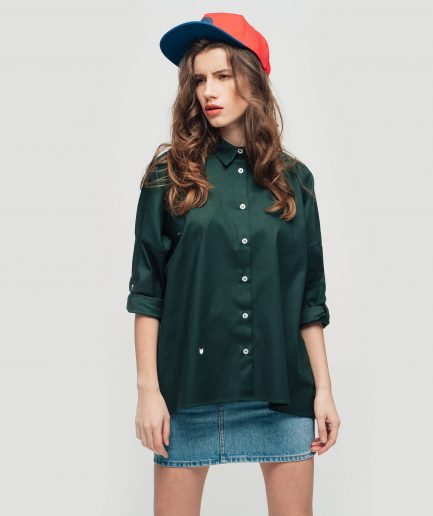 Meow-Dark-green-shirt-1